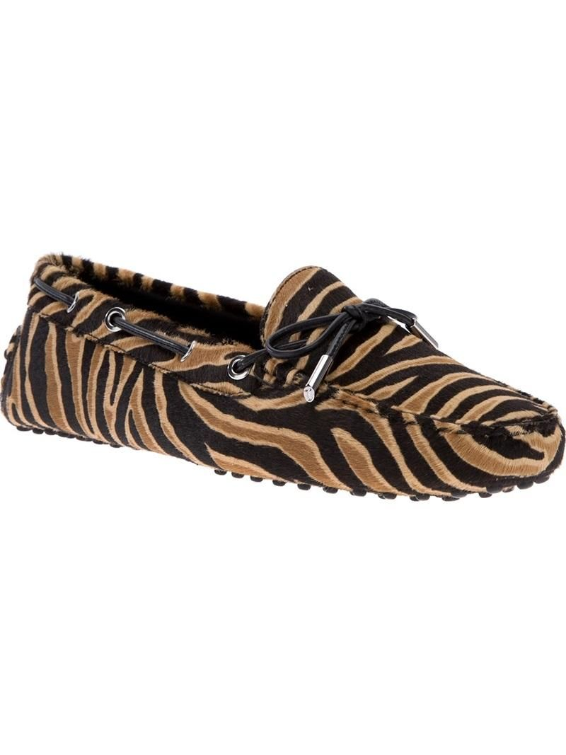 ad6debce5951 Tod's Tiger Print Loafer | Heels | Animal print outfits, Tiger print ...