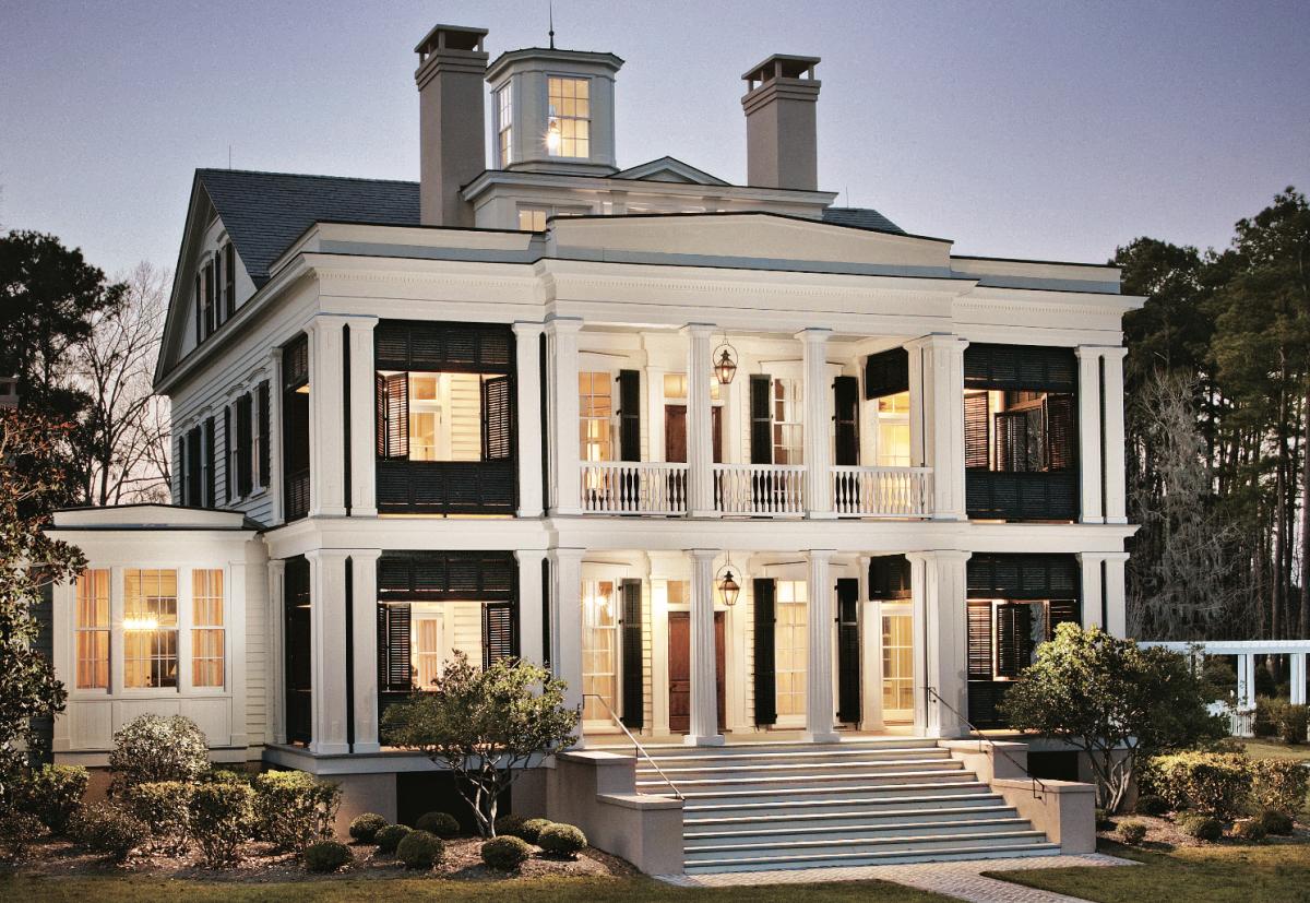 A Greek Revival Home With Southern Charm Greek Revival Home House Seasons House