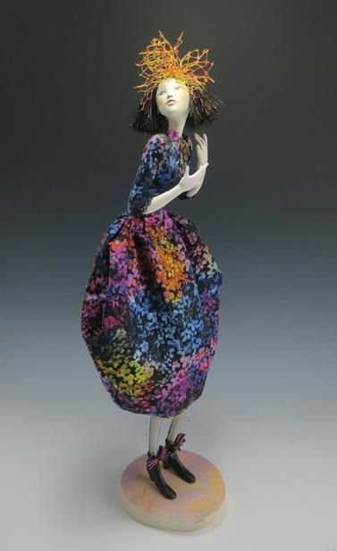"""*NEW* Cloth Art Doll Pattern /""""Wilda/"""" By Cindee Moyer Paper"""