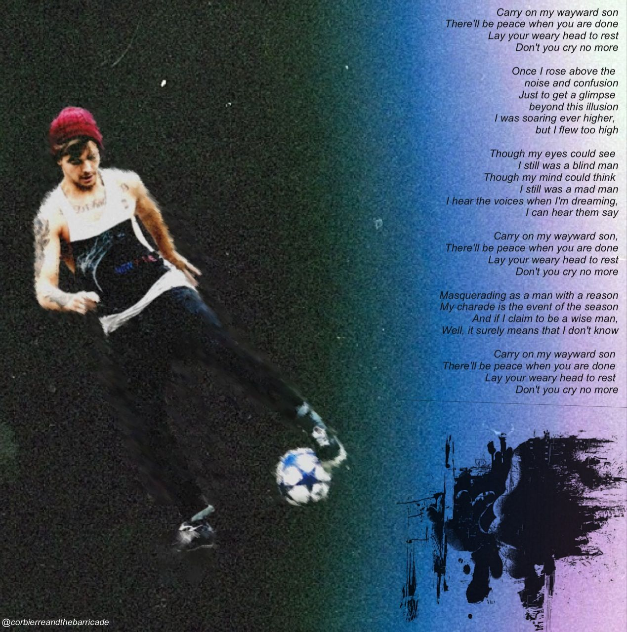 Louis Tomlinson - Carry on wayward son texture credits to
