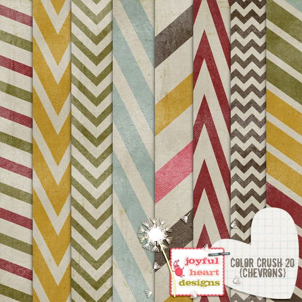 Color Crush 20 (chevrons) :: Papers :: Memory Scraps