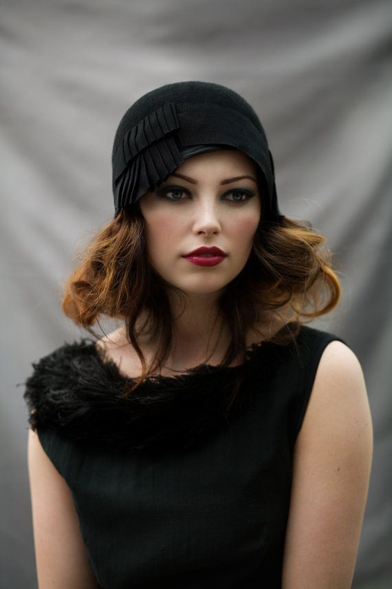 Cloche Hat with Pleats by MaggieMowbrayHats on Etsy, £125