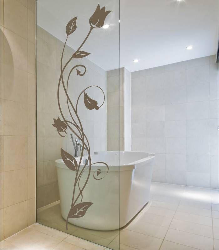 Vinilo para puerta de vidrio de la ducha | Baños decoración ...