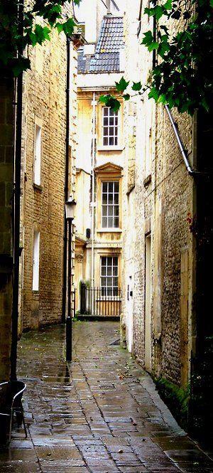 Bath - I'm always reminded of Northanger Abbey written by Jane Austen.