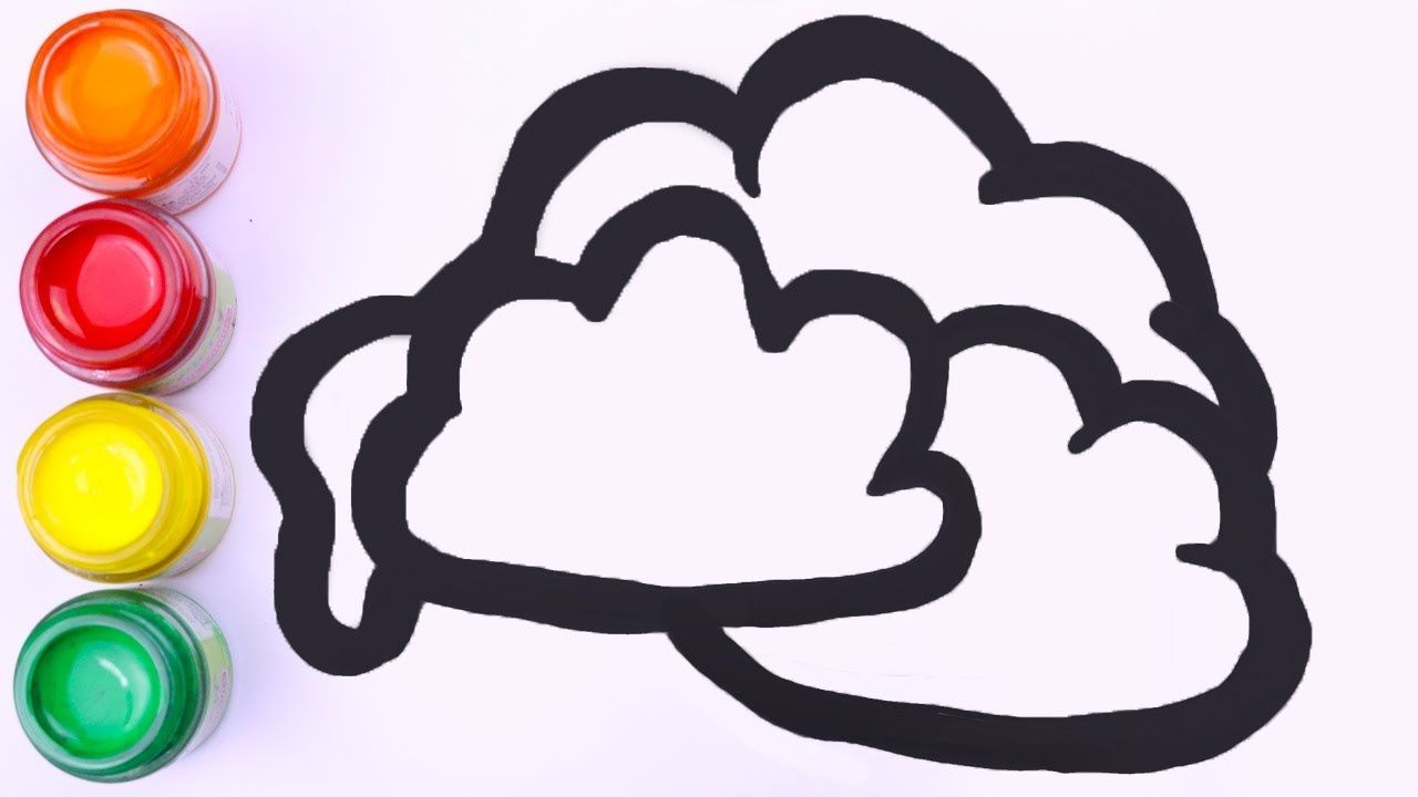 Cloud Drawing And Coloring For Kids How To Draw Paint Color