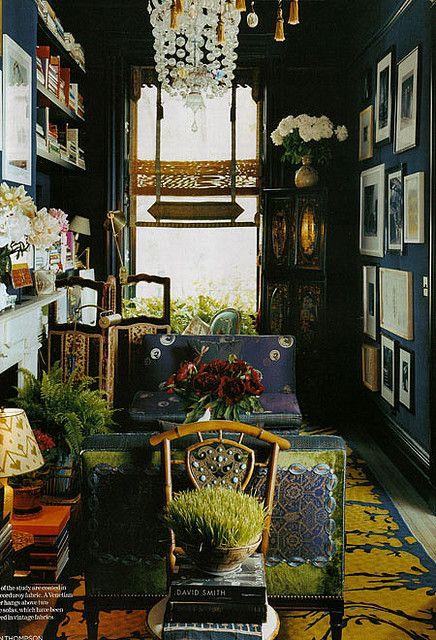 Martyn Thompson Muriel Brandolini Bohemian Interior Dark