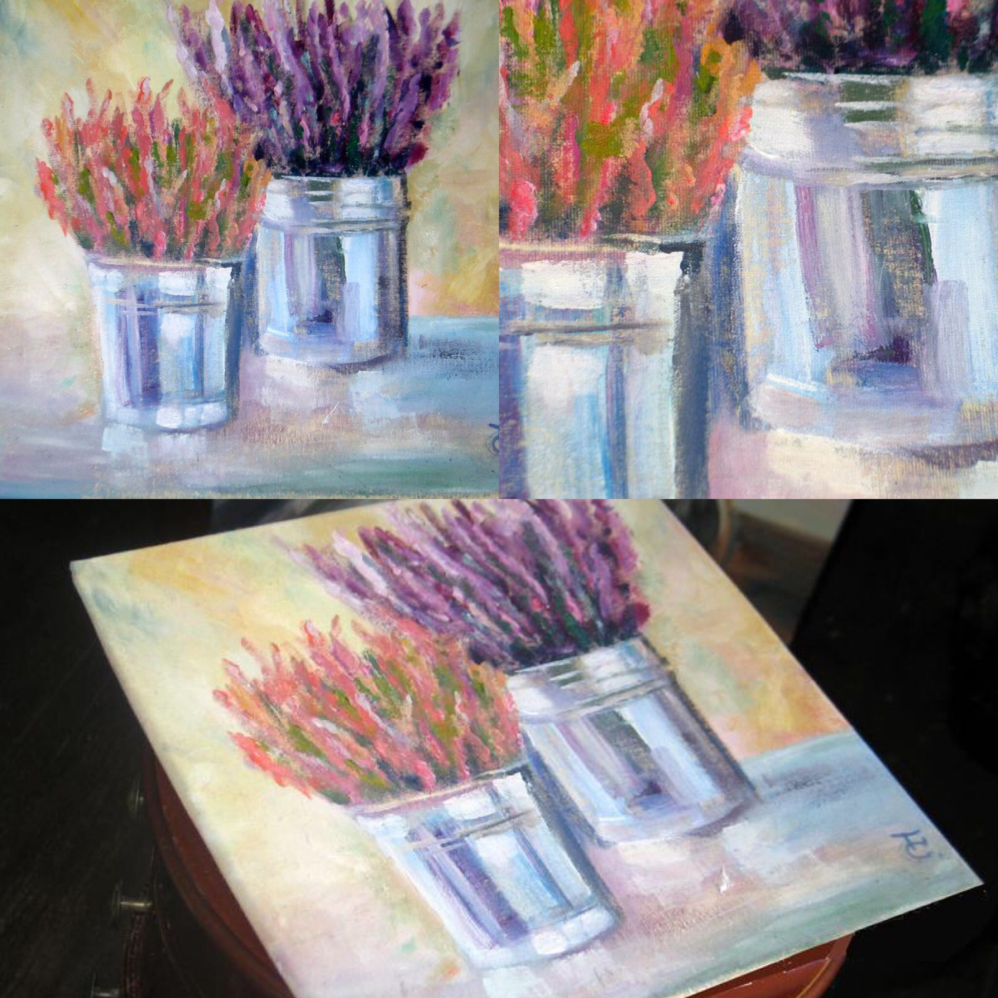 Heather Oil Painting On Canvas For Her Heather Oil Picture Etsy Oil Painting On Canvas Flower Wall Art Oil Painting