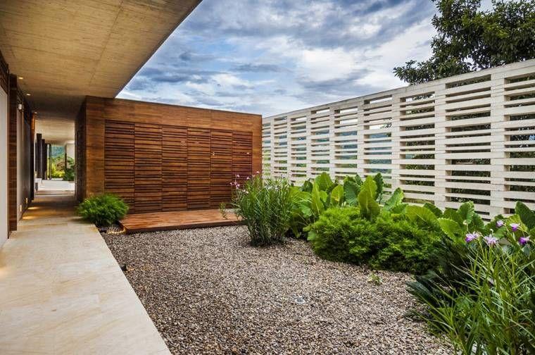 Cloture Jardin Et Maison Moderne Backyard Jardin Moderne
