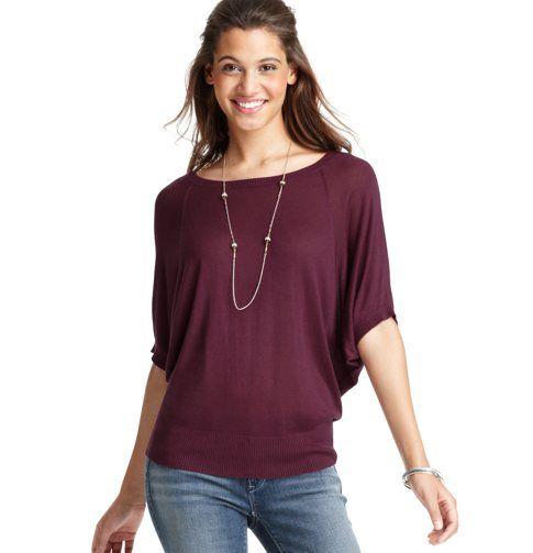 Petite Short Sleeve Cocoon Sweater