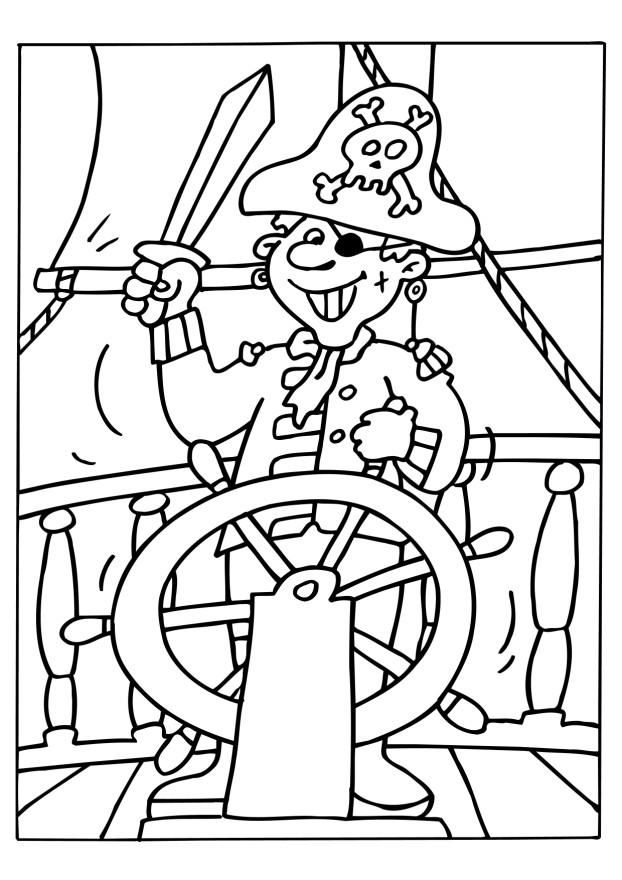 coloriage-pirate | fasnacht | Pinterest | Pirat, Piratenschatz und ...