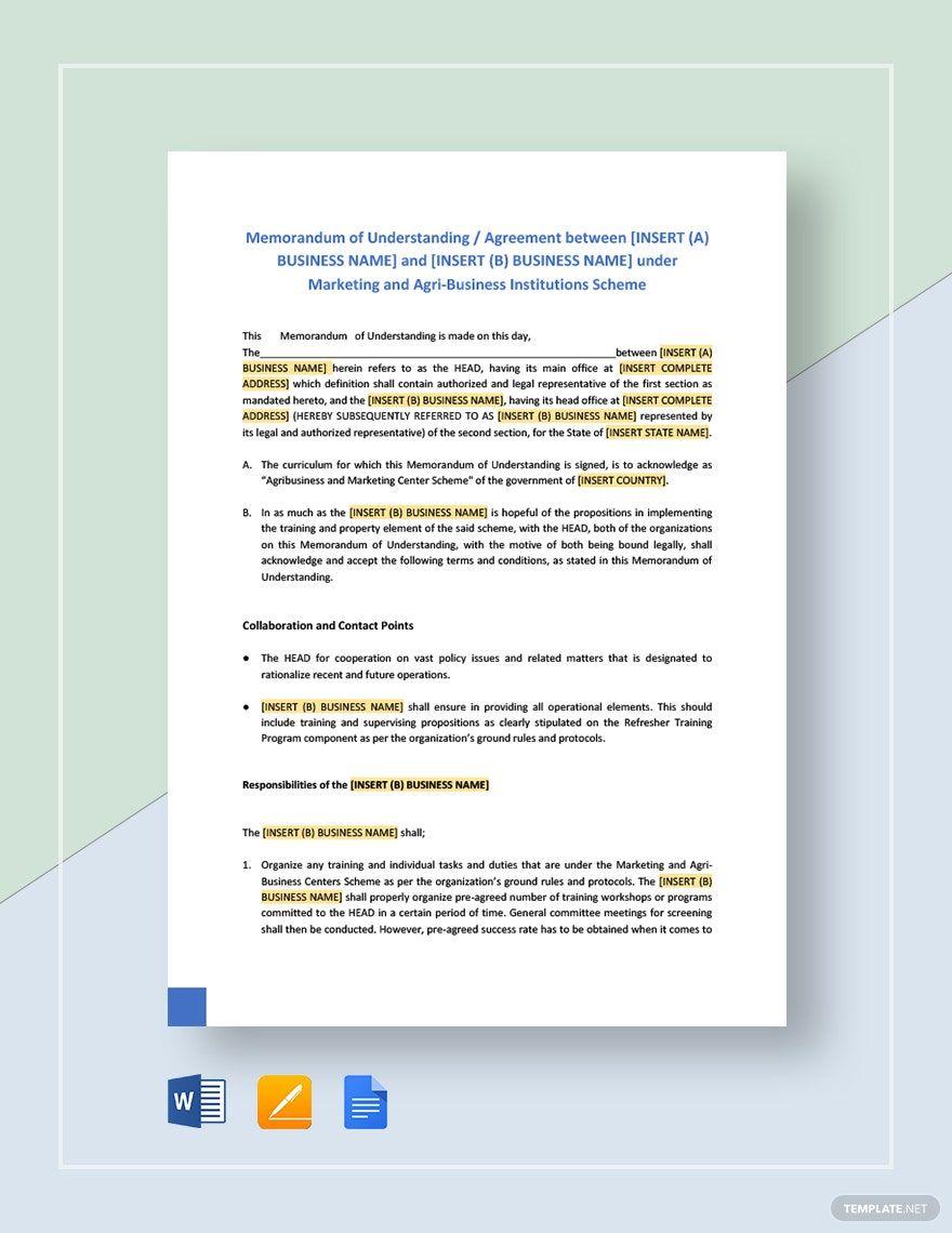 Instantly Download Memorandum Of Understanding Format For Business Template Sample Example In Micros Business Template Letter Template Word Quotation Format Letter of understanding template word