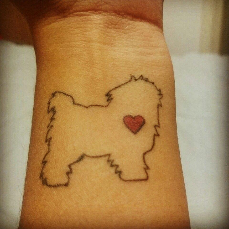 Maltese Tattoo Dog Tattoos Tattoos Body Art Tattoos