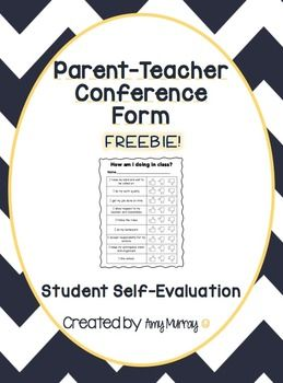 Preparing For ParentTeacher Conferences This SelfEvaluation