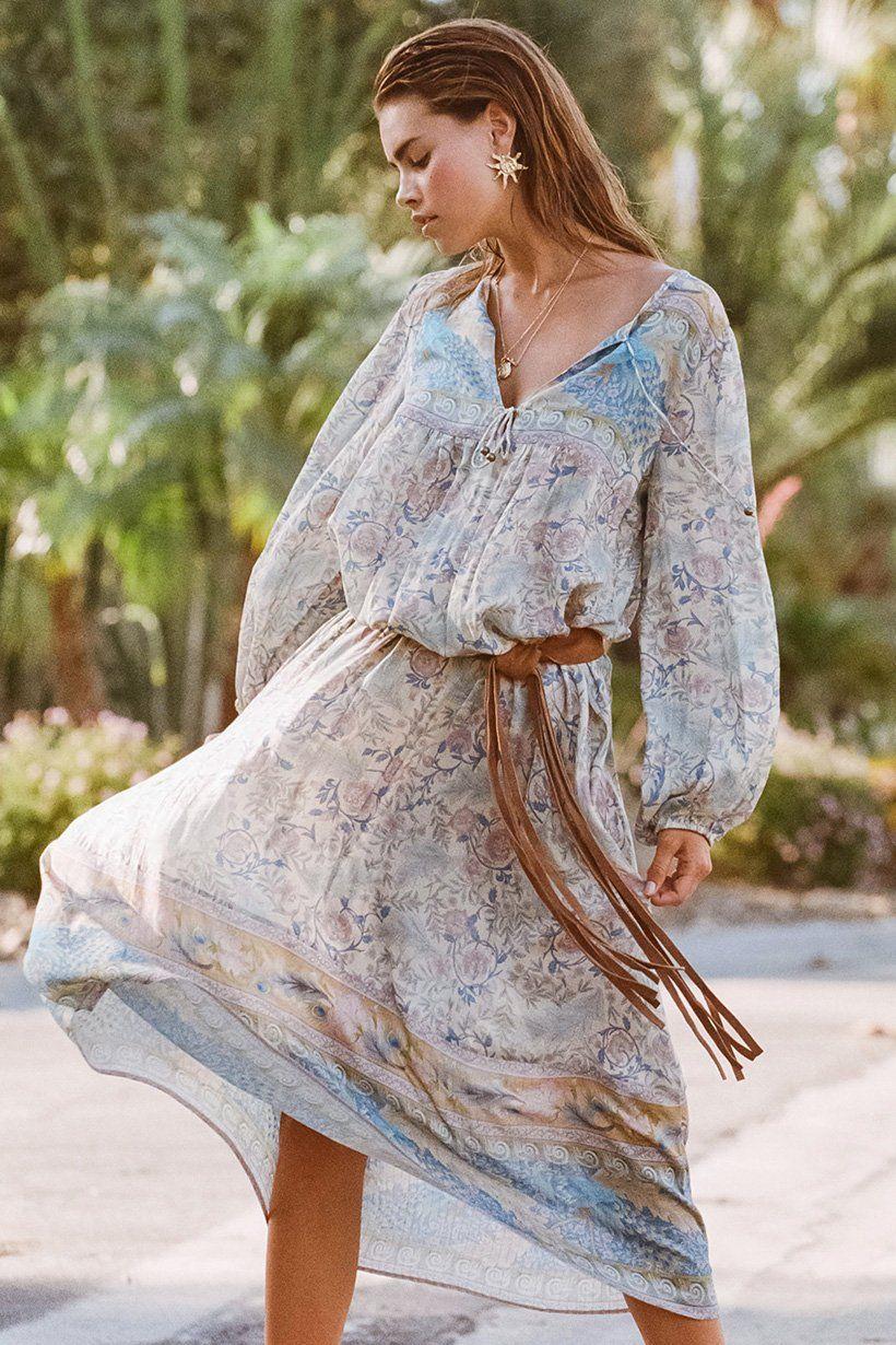 22f0638028be Olivia Aarnio wears Spell Oasis Boho Maxi Dress | dress | Dresses ...