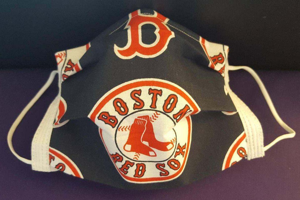 Boston Red Sox Inspired Germ Freak Designer Face Mask by