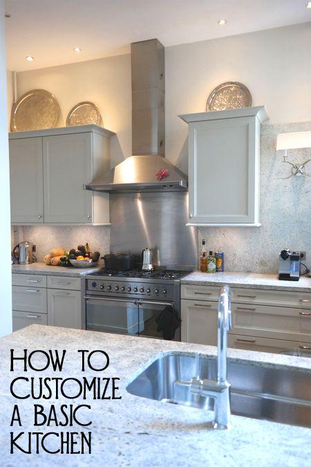 How To Customize A Basic Kitchen  Laminate Countertops Custom Basic Kitchen Cabinets Design Ideas