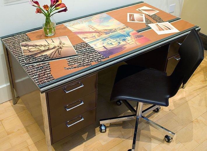 A Vintage Metal Army Desk Was Sprayed With Hard Wearing Automobile Paint Using The