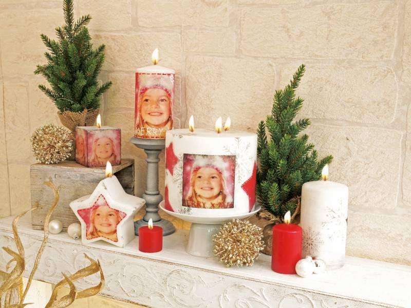 foto kerze gestalten mit foto transfer potch fotogeschenk zu weihnachten basteln mit fotos. Black Bedroom Furniture Sets. Home Design Ideas