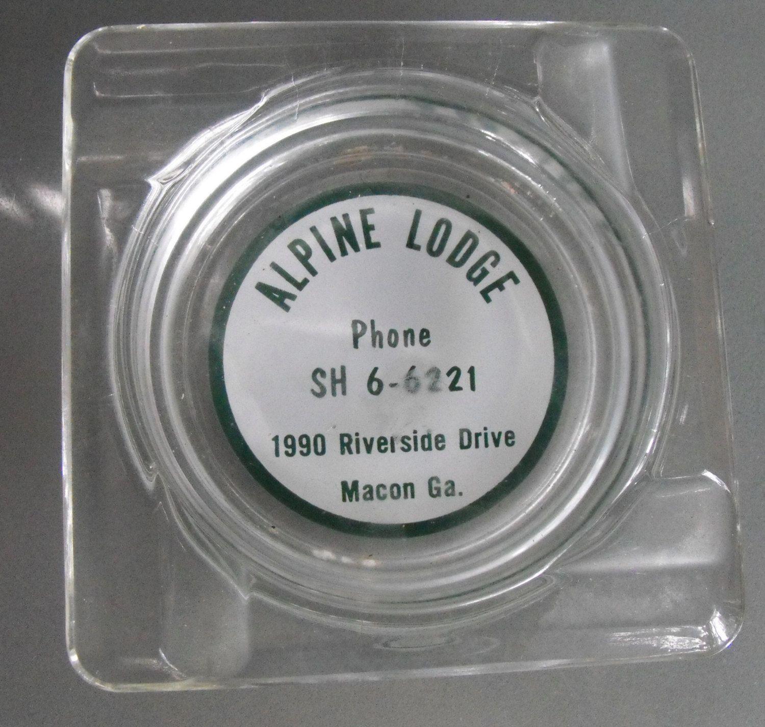 Alpine Lodge Souvenir Ashtray, Macon, Georgia, Vintage Ashtray, Travel Souvenir, Smoking Accessory, Motor Lodge, Road Trip, Vacation Travel by ...