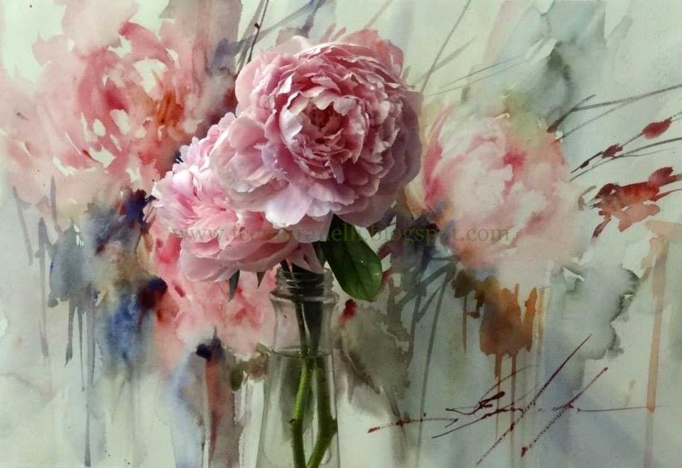 Fabio Cembranelli Favorite Flower Paint Aquarelle Fleurs