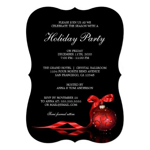 elegant holiday invitations christmas invitation templates