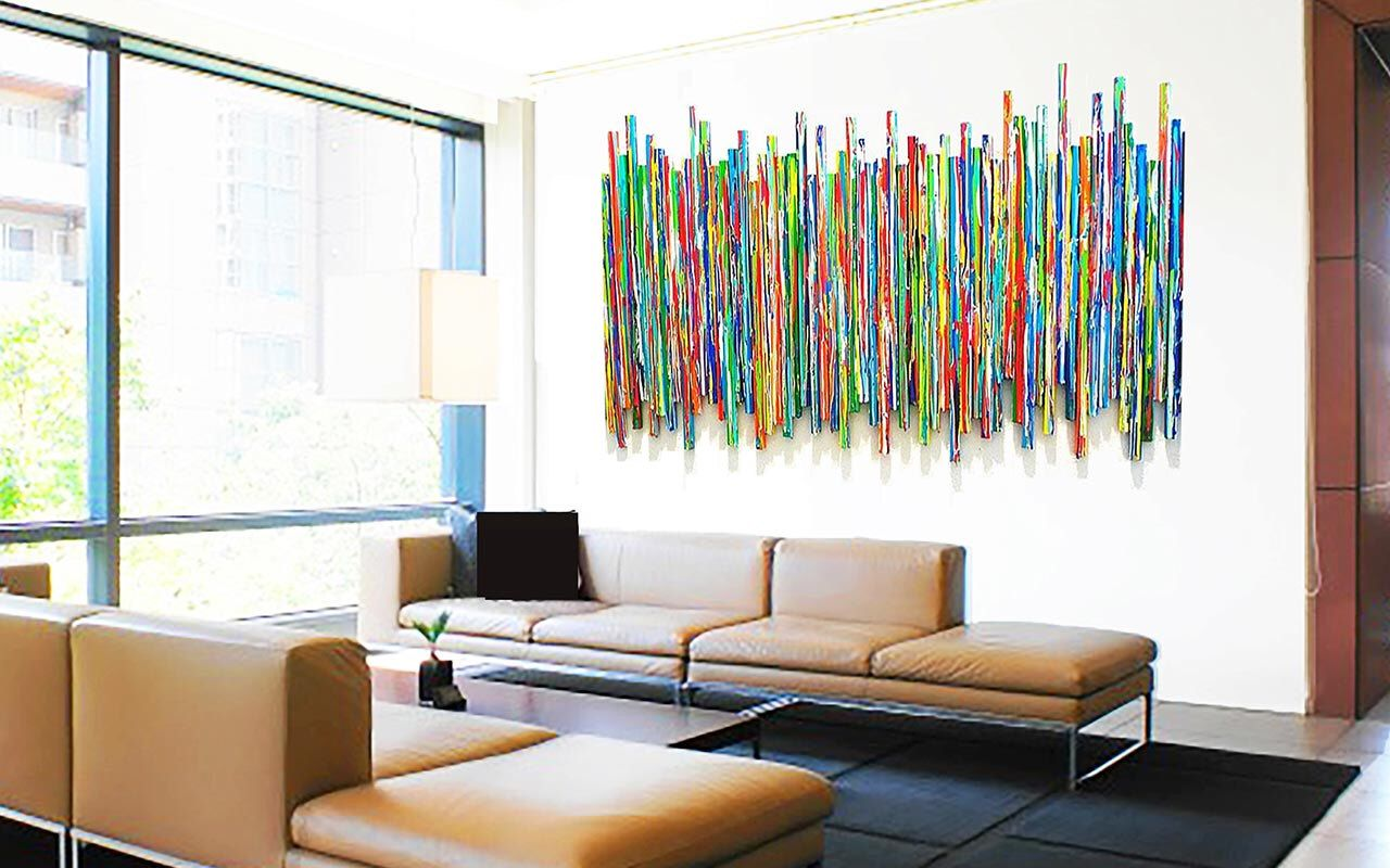 Large Abstract Wall Sculpture | Original Contemporary Wall ...