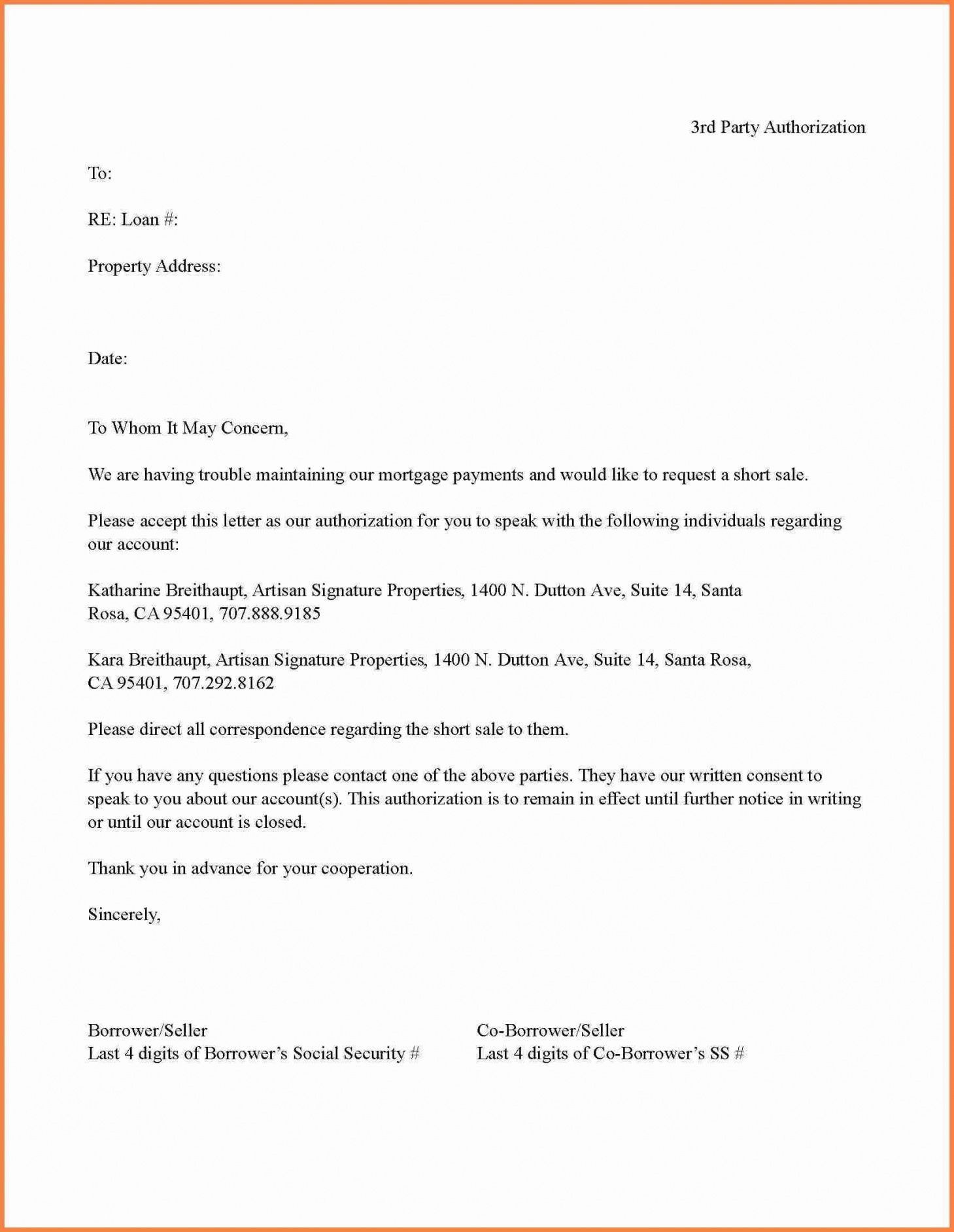 Explore Our Example Of Third Party Authorization Letter Template