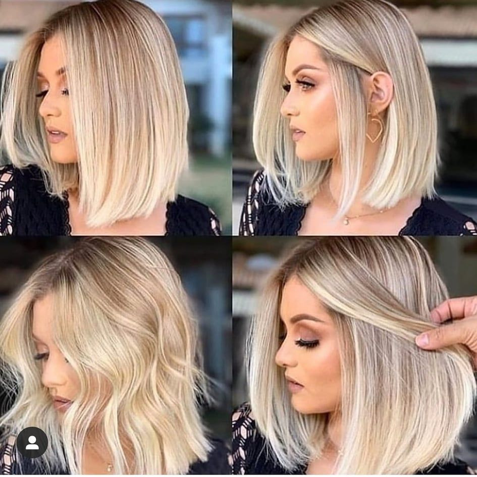 New Hairstyles That Make You Look Younger In 2020 Human Hair Wigs Blonde Blonde Hair Color Balayage Hair