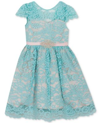 9b1aab54e58f Rare Editions Little Girls Lace Fit & Flare Dress - Green 6 ...