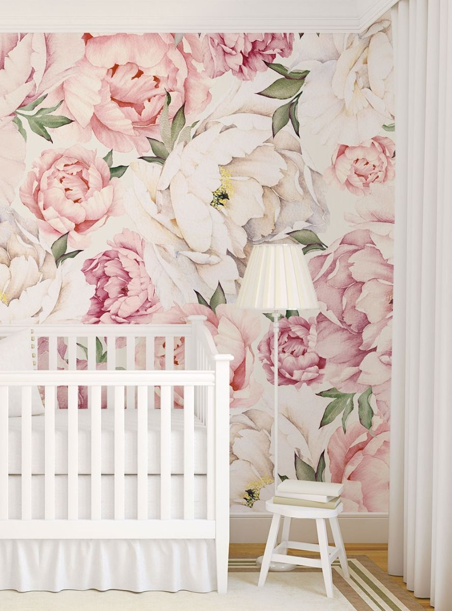 Peony Flower Mural Wall Art Wallpaper Peel And Stick In 2020