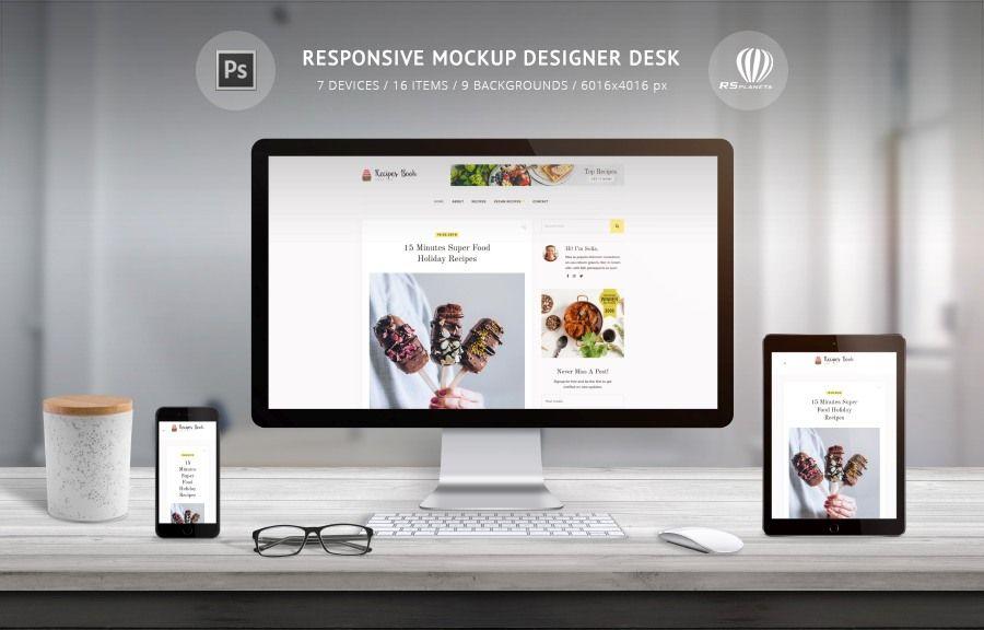 Responsive Mockup Designer Desk Is Photoshop Psd Scene Creator For Presentation Responsive Web Site Design Create Social Net Desk Design Design Website Design