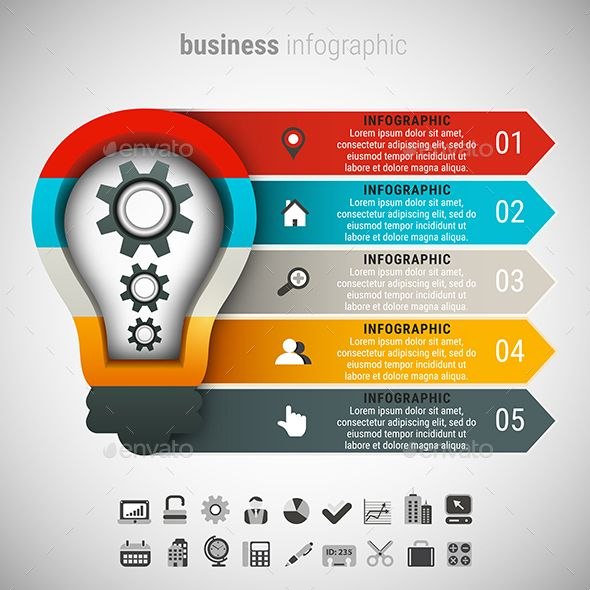 Business Infographic Photoshop, Business and Infographic