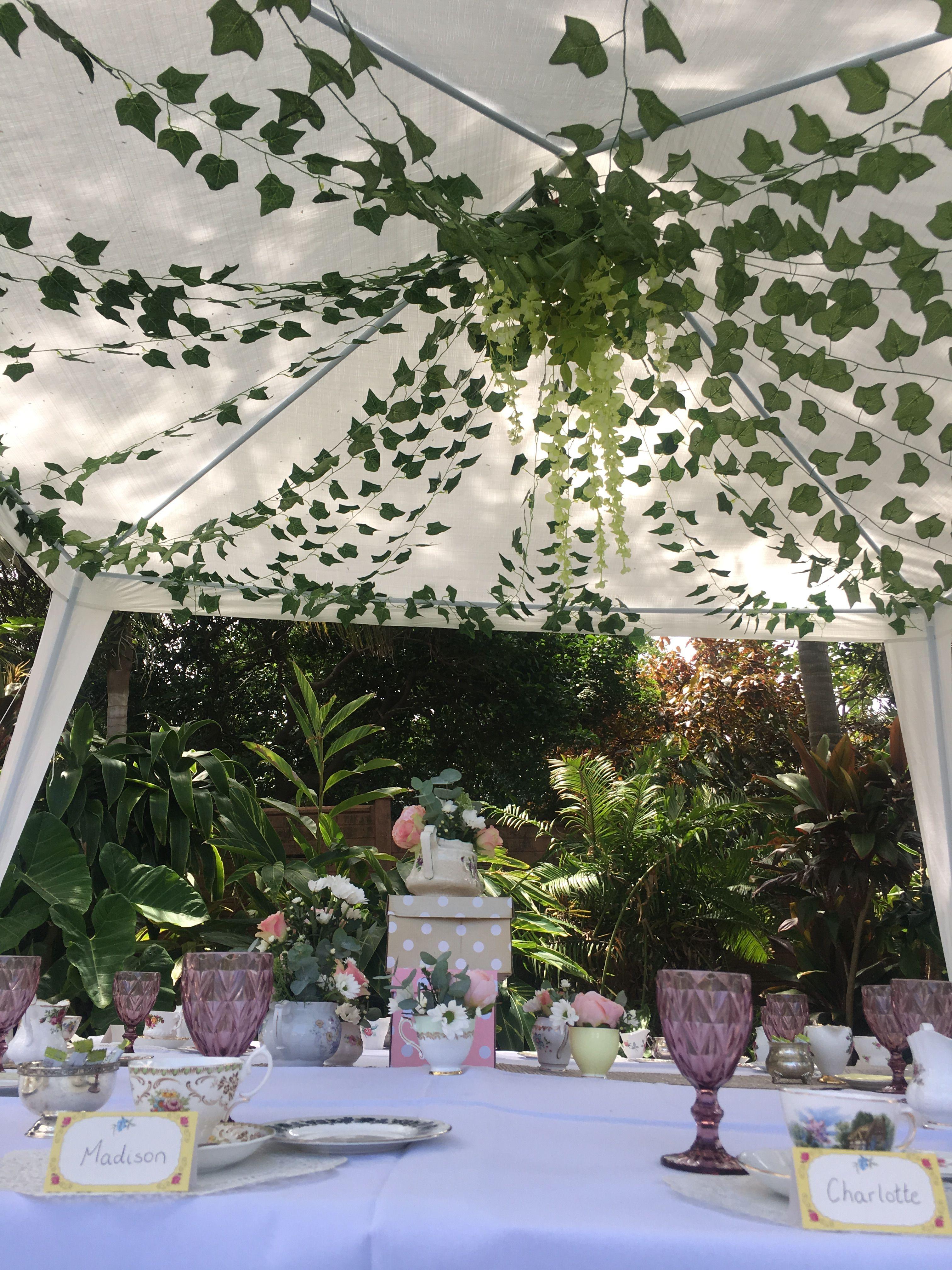 Girls Birthday Tea Party Gazebo Tent Decor Party Tent