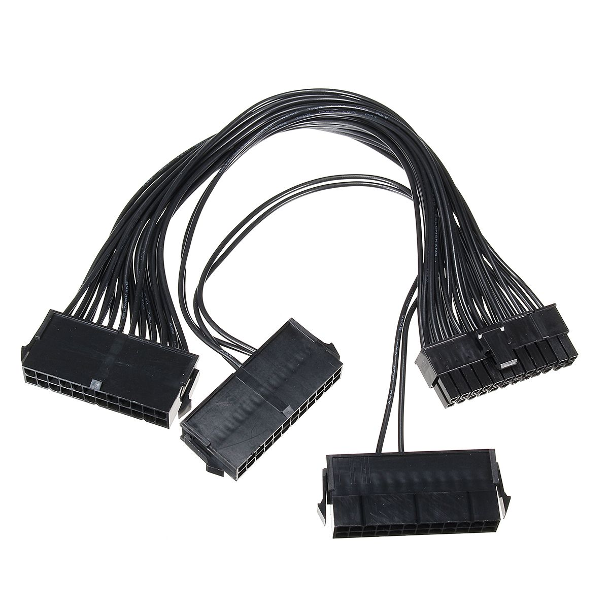 50cm Micro Sata To Data Cable Power 30cm 3 Port Supply 18awg Atx 24 Pin 24p Motherboard Adapter