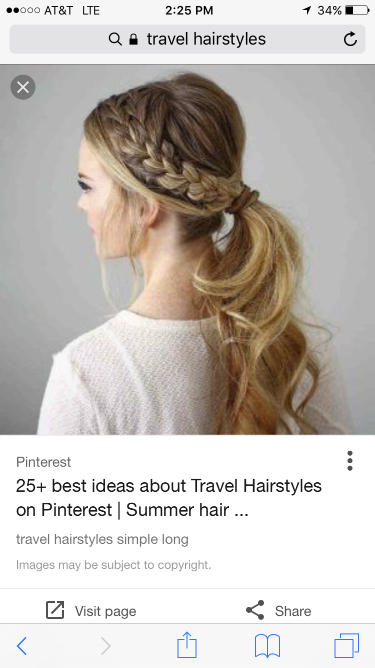 Cute hairstyle 👑 | Summer hairstyles, Travel hairstyles, Easy hairstyles