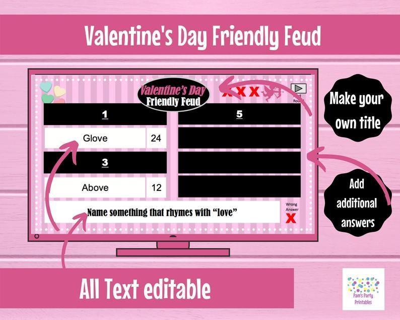 Virtual Game Valentine S Day Challenge Game Interactive Etsy Valentine S Day Games Valentines Games Valentines Day Activities