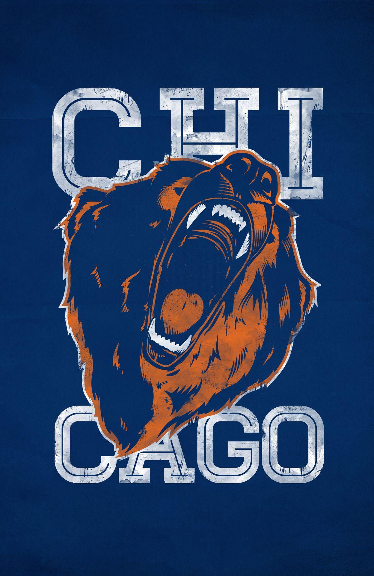987b16012a01da8869412dd590611843 awesome chicago bears illustration bears forever