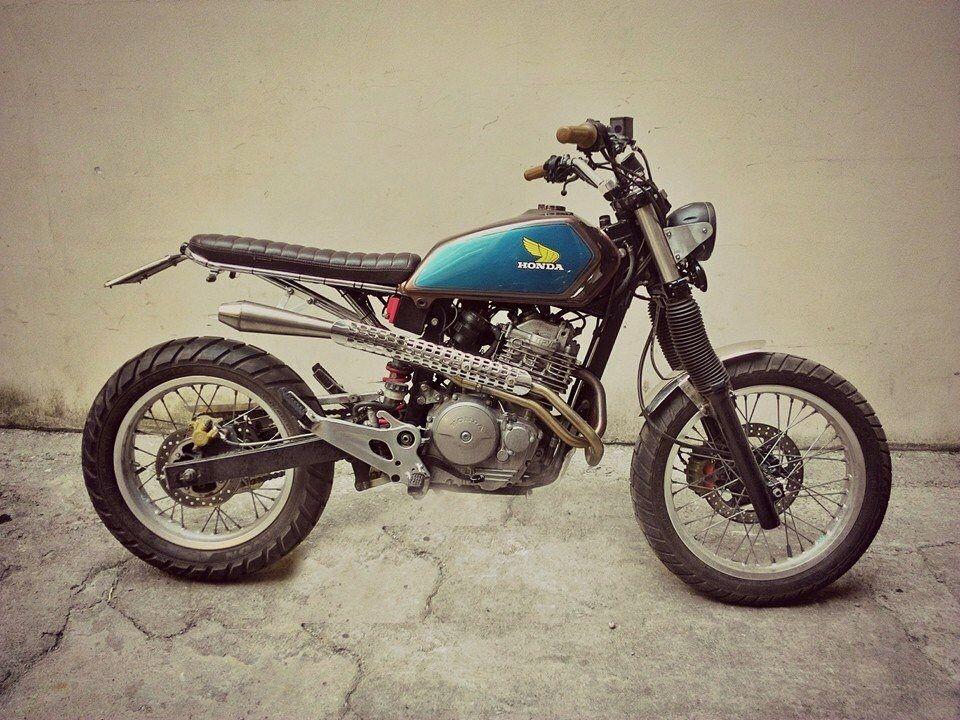honda slr650dragoni moto, rome - italy   custom motorcycles