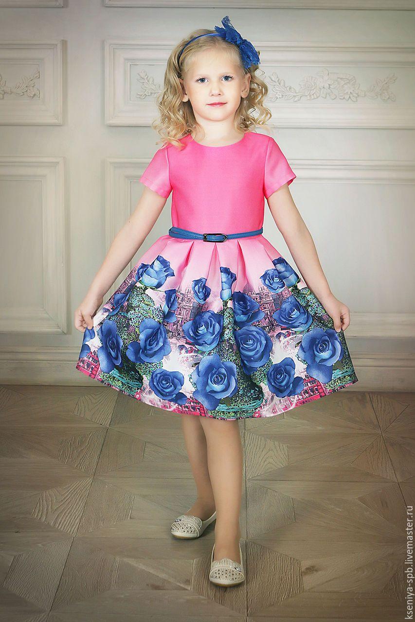 Купить яркое платье с цветами