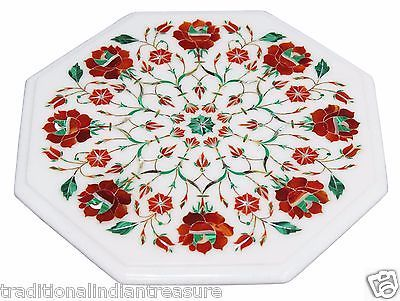 """12"""" White Marble Side Coffee Table Top Marquetry Carnelian Inlay Floral Art Deco https://t.co/qcMHGop9RR https://t.co/Og2IW3qFf4"""