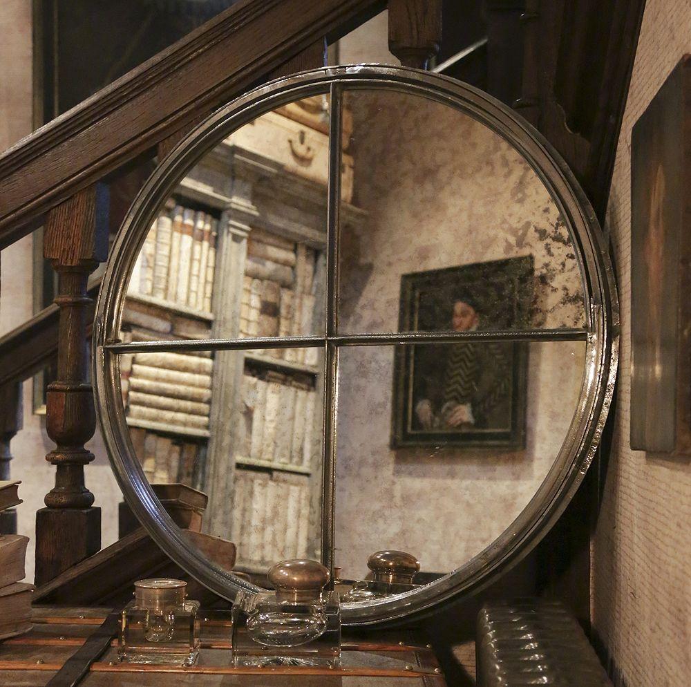 Antique Circular Cast Iron Window Frame Mirror [LC/4] : Aldgate Home ...