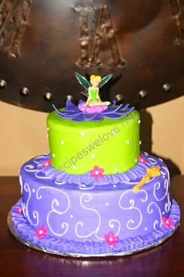 """Tinker Bell Cake from a """"Fairies and Pirates"""" birthday party!"""