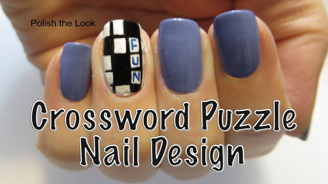 Crossword Puzzle Nail Art. Please share and subscribe to be notified ...