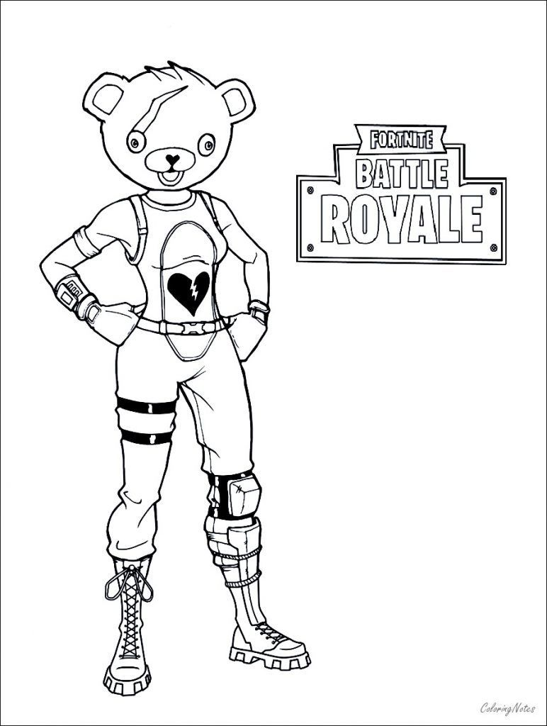 Fortnite Coloring Pages To Print In 2020 Coloring Pages To Print Coloring Pages Bear Coloring Pages