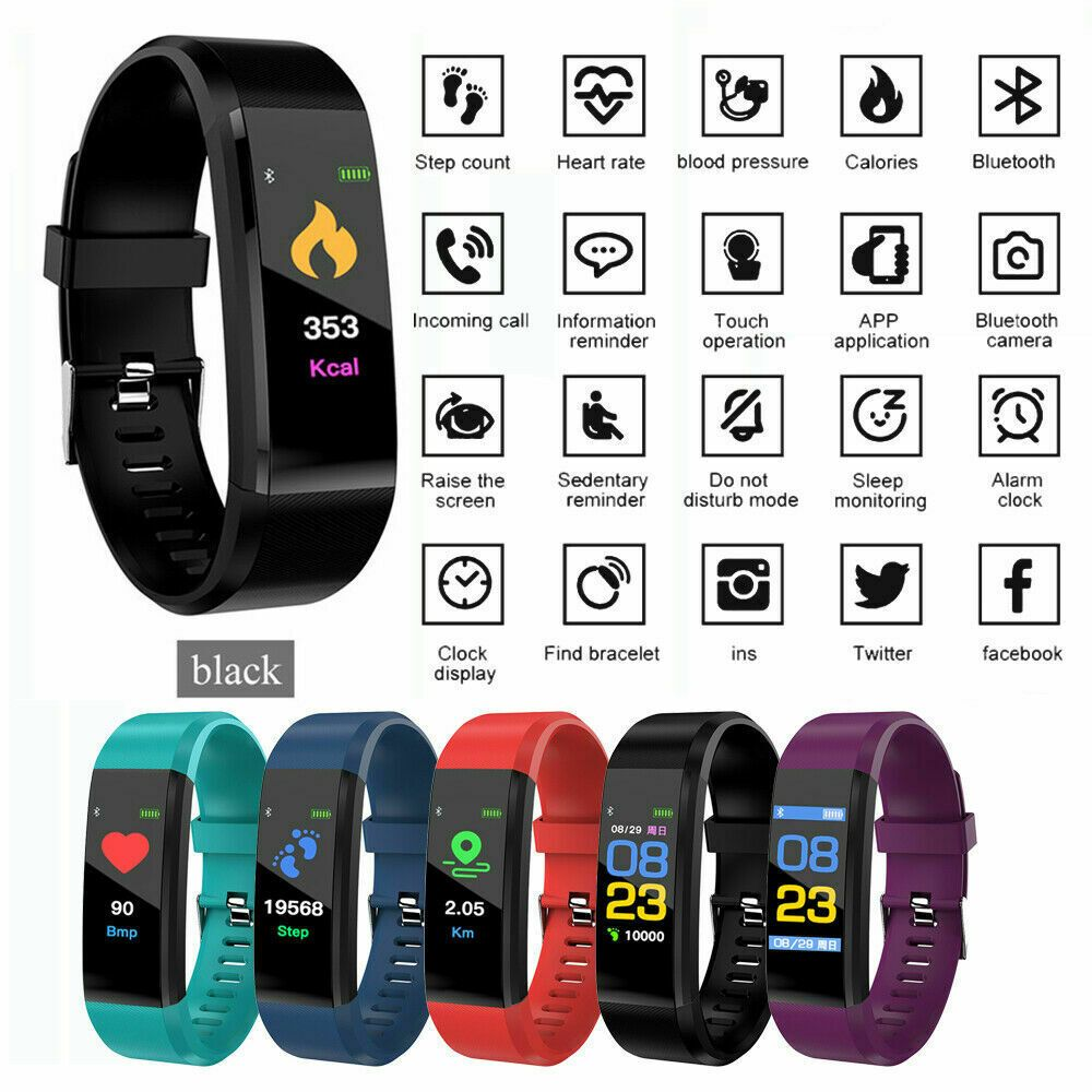 IP67 Heart Rate ID115 Plus Top Smart Watch Monitor Pedometer Fitness Tracker iOS - Fitness Watch - I...