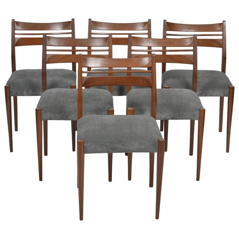 scandinavian modern set of six dining chairs from a unique collection of antique and modern - Set Of Six Dining Room Chairs