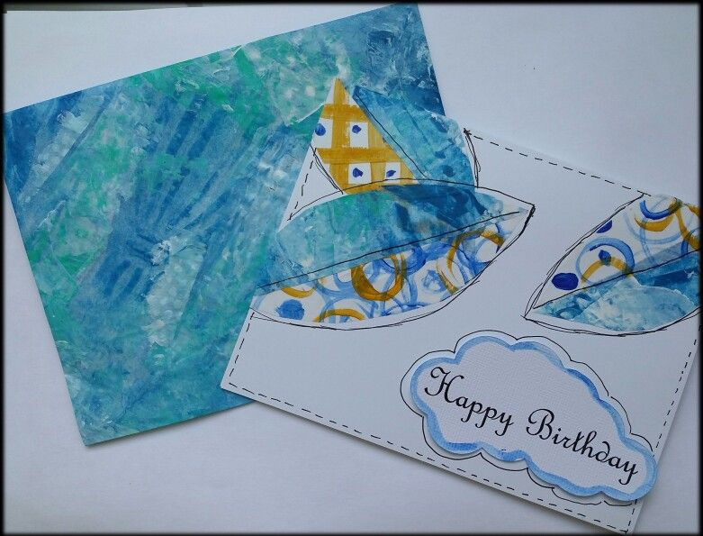 Made a card to go with deli wrap printed envelope.