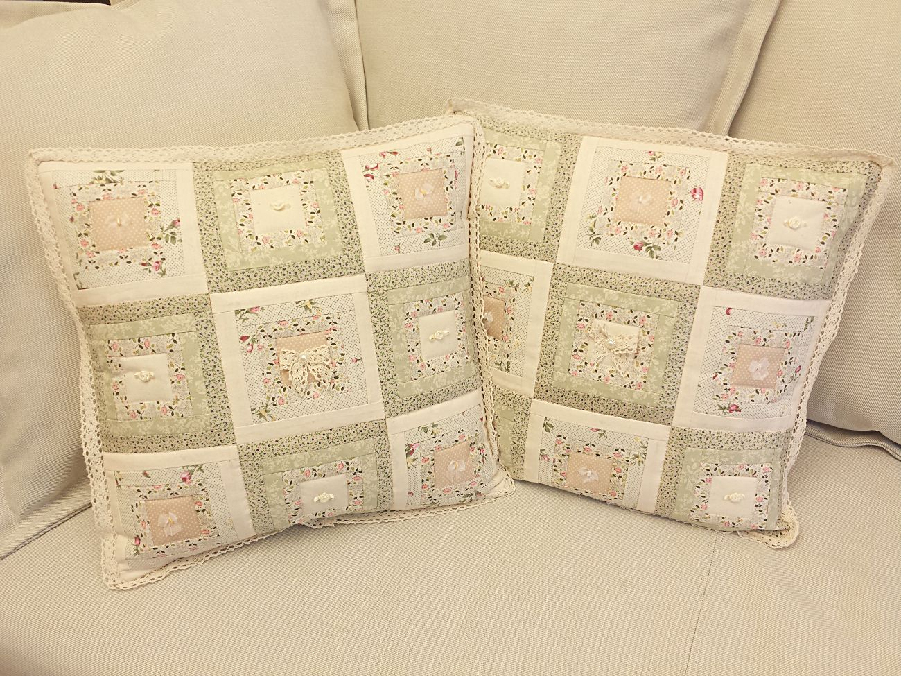 Shabby chic patchwork cushion covers my cushion covers