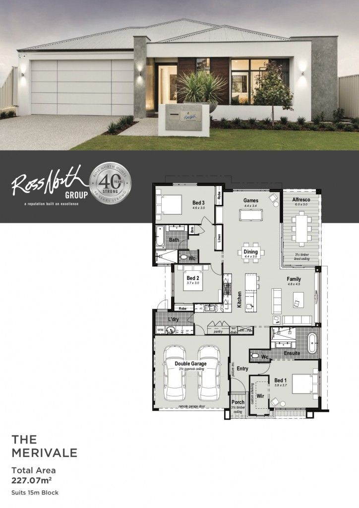 The Merivale One Storey Display Home Ross North Homes Perth Cottage Style House Plans Craftsman House Plans House Plan Gallery