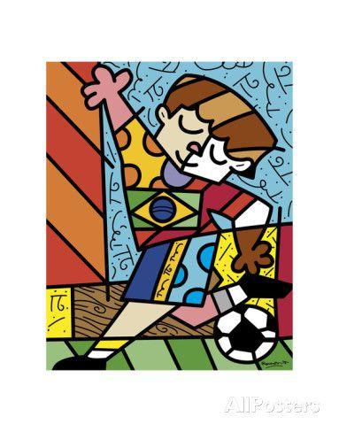 I Love Soccer Print by Romero Britto at AllPosters.com